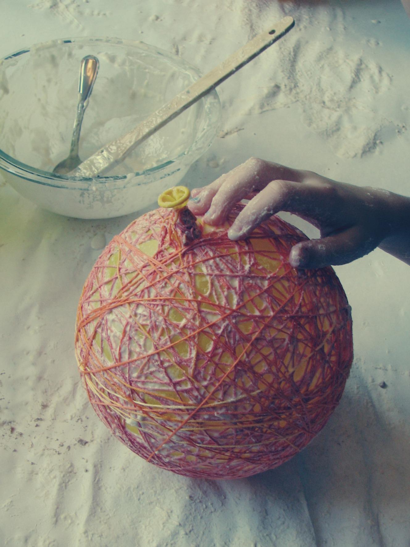 String Pumpkins Art Is Medicine – Paper Mache Chandelier